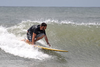 Surfing at the Pensacola Beach, Florida, The Cross, 06-25-2012
