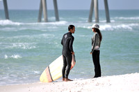 Surfers at the Pensacola beach Florida, 12-02-2012, 2166