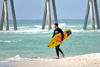 Surfing at the Pensacola Beach Florida, 12-02-2012