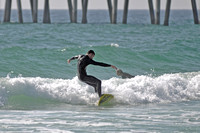 Surfers at the Pensacola beach Florida, 12-02-2012, 2272
