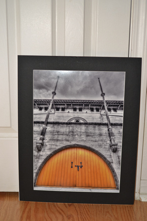 Yellow gate print for sale, 16x20 mat, sale for $50.00+S/H