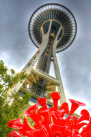 09-2015,  Seattle Cityscape, Seattle Washington, Space Needle, HDR photography, 3936