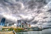 09-2015,  Seattle Cityscape, Seattle Washington, Seattle Great Wheel, HDR photography, 4146