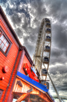 09-2015, Seattle Cityscape, Seattle Washington, Seattle Great Wheel, HDR photography, 4191