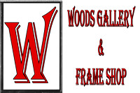 Woods Gallery and Frame Shop, Logos and Logo Designs, Photoshop Photography, 1