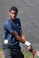 Tennis tournament, singles, Florian Reynet FRA vs Sekou Bangoura USA, 2012, 0694