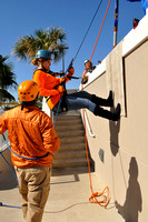 Over The Edge for Boy Scouts of America 2012. Pensacola Beach Florida at the Hilton