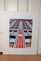 Building with the angle print for sale,16x20 mat, $30.00+S/H