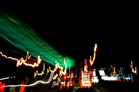 208, Highway sign and street lights, lines