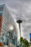 09-2015,  Seattle Cityscape, Seattle Washington, Space Needle, HDR photography, 3806
