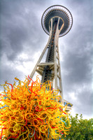 09-2015,  Seattle Cityscape, Seattle Washington, Space Needle, HDR photography, 3926