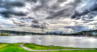 09-2015, Seattle Washington Cityscape, Space Needle, From Gasworks Park, hdr, 4308
