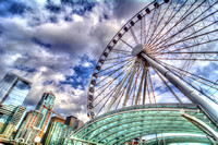 09-2015, Seattle Cityscape, Seattle Washington, Seattle Great Wheel, HDR photography, 4198