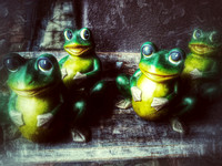 7, 4 Cute little frog statues at St Augustine Florida