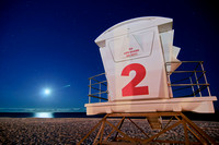 260, Lifeguard Booth at Pensacola Beach Florida, Scape Photography