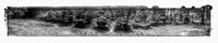 12, old cars, Crawfordville, Wakulla county, route 319, black and white panorama