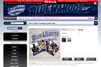 7, Blue Wahoos Baseball Team Trading Cards Set, season 2013