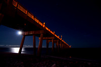 262, Pensacola Fishing Pier at night, Scape Photography, moon and stars