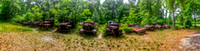 13, old cars, Crawfordville, Wakulla county, route 319, hdr panorama