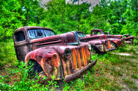 Field of Old Rusty Cars, Crawfordville, Wakulla county, route 319, 05-02-2014, 5228, Automotive Photography