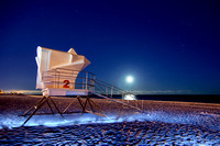 261, Lifeguard Booth at Pensacola Beach Florida, Scape Photography