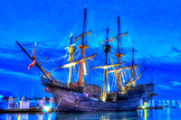 El Galeon, Nao Victoria, Ships docked at St Augustine Port, Florida, 04-29-2014, 6818, Emmele Photography, hdr photography
