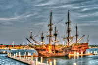 El Galeon, Nao Victoria, Ships docked at St Augustine Port, Florida, 04-29-2014, 5278, Emmele Photography