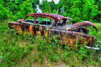 Field of Old Rusty Cars, Crawfordville, Wakulla county, route 319, 05-02-2014, 5255, Automotive Photography