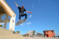 10-31-2014, Skater at Pensacola Beach, Skateboarding, Sports Photography, 0072
