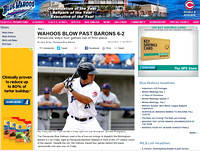 1, Blue Wahoos site, 2013,  Ray Chang, baseball