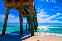 1, Pensacola Beach Fishing Pier in painting effect, Painterly Effect