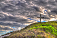 41, Cross on 17th street at Pensacola Beach Florida, HDR Photography