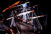 El Galeon, Nao Victoria, shio crew, Ships docked at St Augustine Port, Florida, 04-29-2014, 6906, Emmele Photography