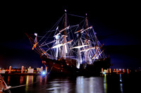 El Galeon, Nao Victoria, Ships docked at St Augustine Port, Florida, 04-29-2014, 6870, Emmele Photography